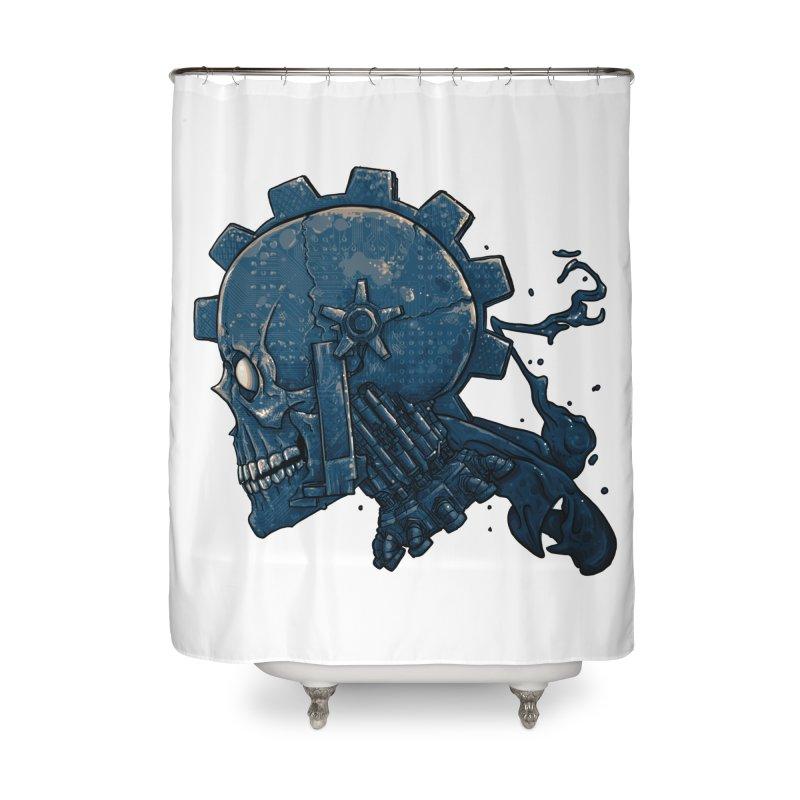 Mech Head Home Shower Curtain by Tail Jar's Artist Shop
