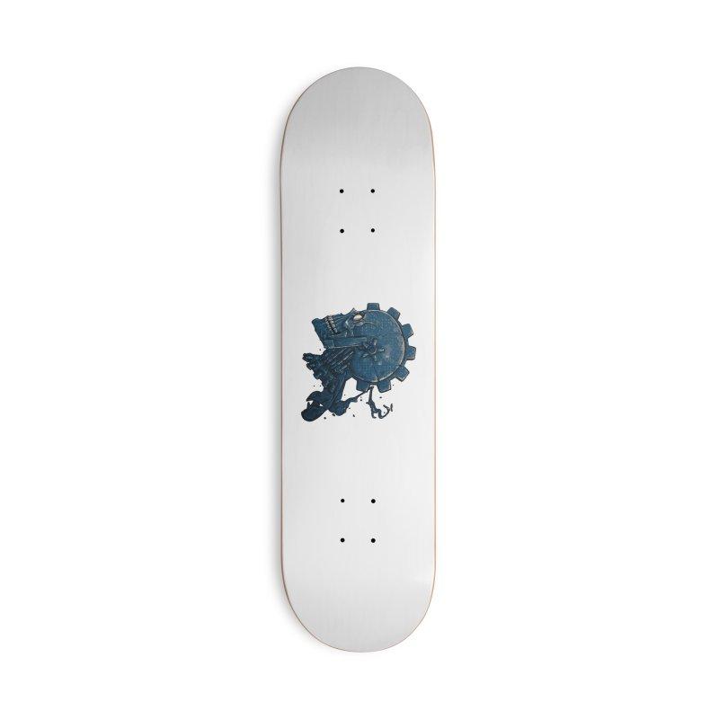 Mech Head Accessories Deck Only Skateboard by Tail Jar's Artist Shop