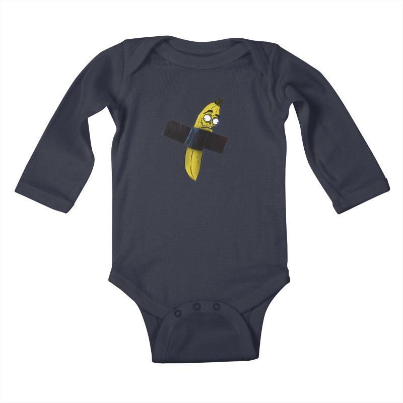 BANANA TAPE Kids Baby Longsleeve Bodysuit by Tail Jar's Artist Shop