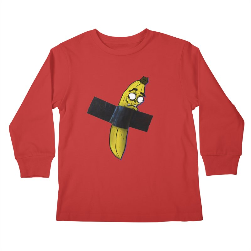 BANANA TAPE Kids Longsleeve T-Shirt by Tail Jar's Artist Shop