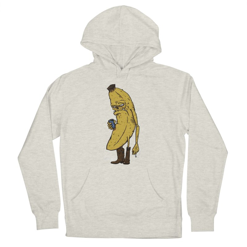 Grumpy Banana (Sale) Women's French Terry Pullover Hoody by Tail Jar's Artist Shop