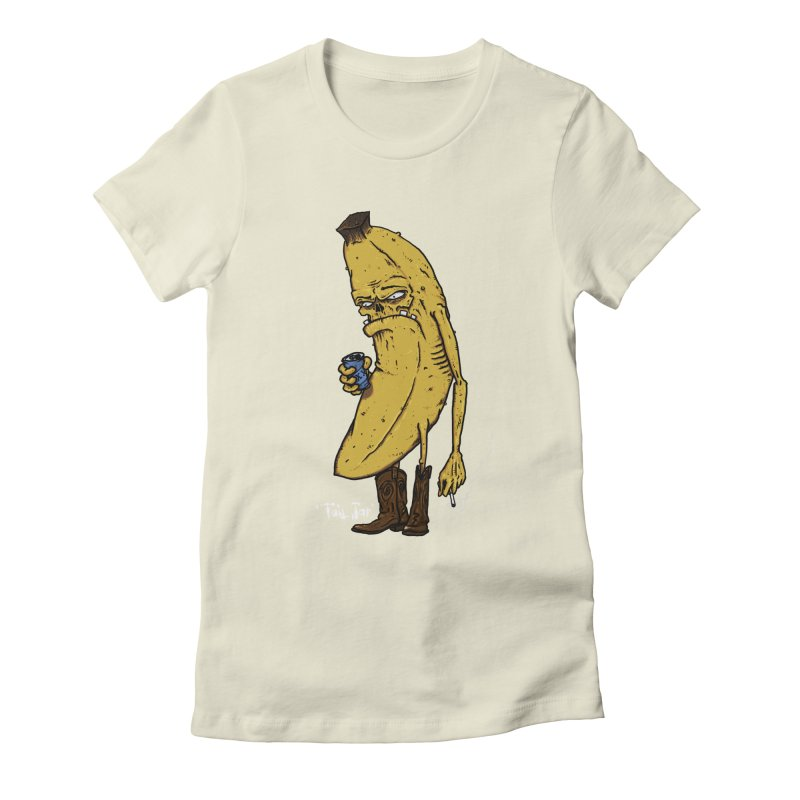 Grumpy Banana (Sale) Women's Fitted T-Shirt by Tail Jar's Artist Shop