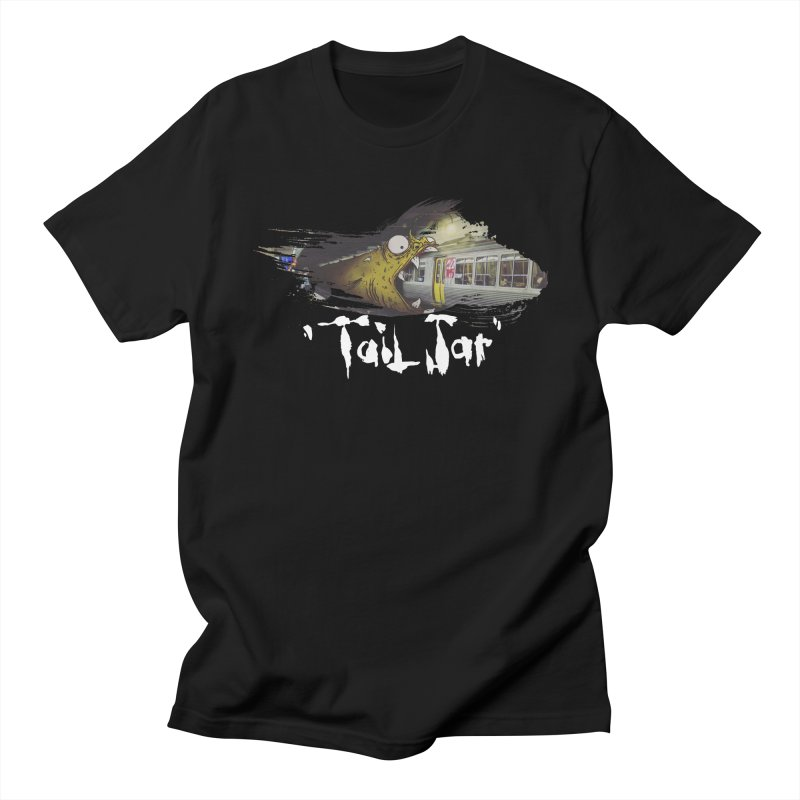 Trainglerfish (Sale) in Men's Regular T-Shirt Black by Tail Jar's Artist Shop
