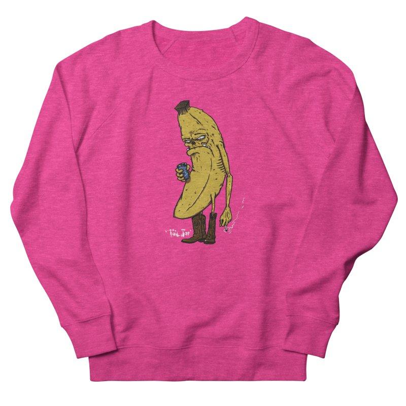 Grumpy Banana Women's French Terry Sweatshirt by Tail Jar's Artist Shop