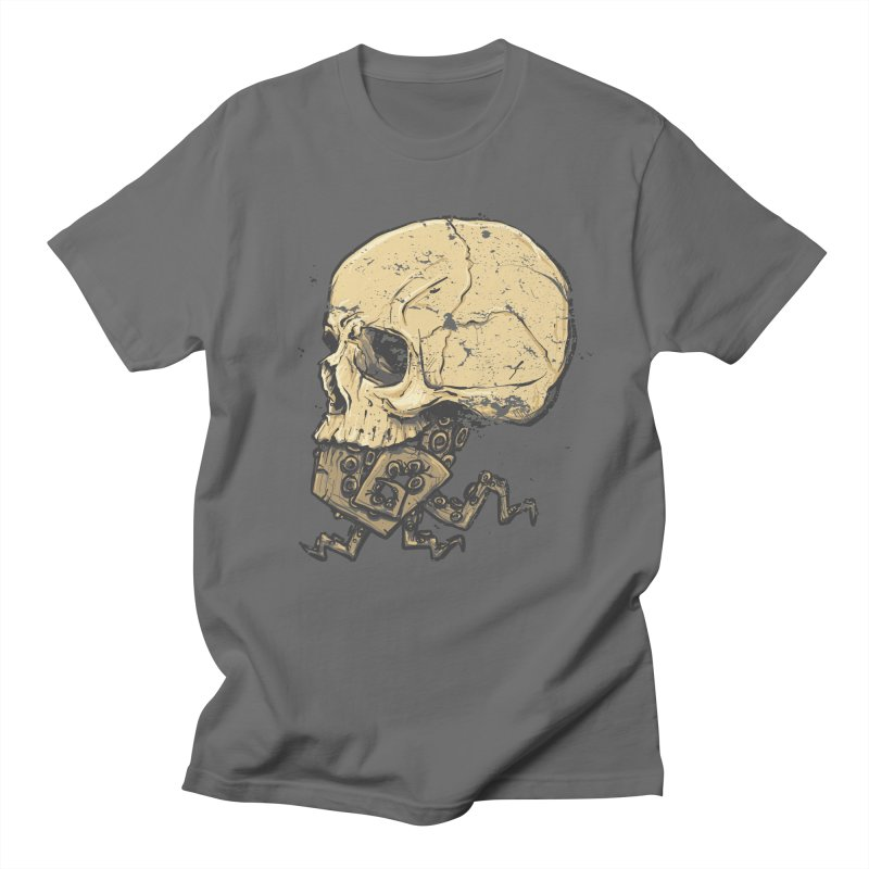 Tentacle Skull in Men's Regular T-Shirt Asphalt by Tail Jar's Artist Shop