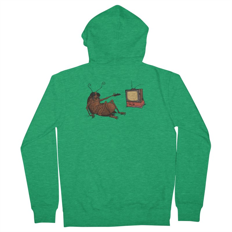 Roach Motel Men's French Terry Zip-Up Hoody by Tail Jar's Artist Shop
