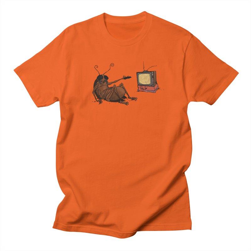 Roach Motel in Men's Regular T-Shirt Orange Poppy by Tail Jar's Artist Shop