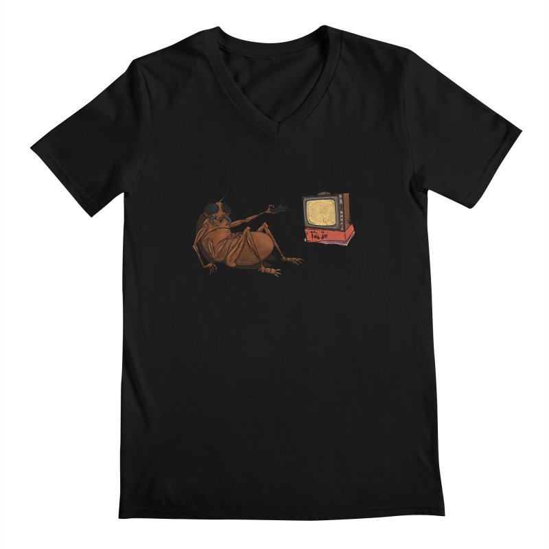 Roach Motel Men's Regular V-Neck by Tail Jar's Artist Shop
