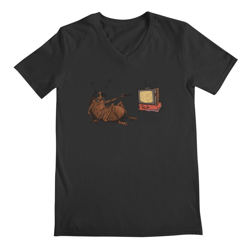 Roach Motel Men's Regular V-Neck by Tail Jar's Artist Shop
