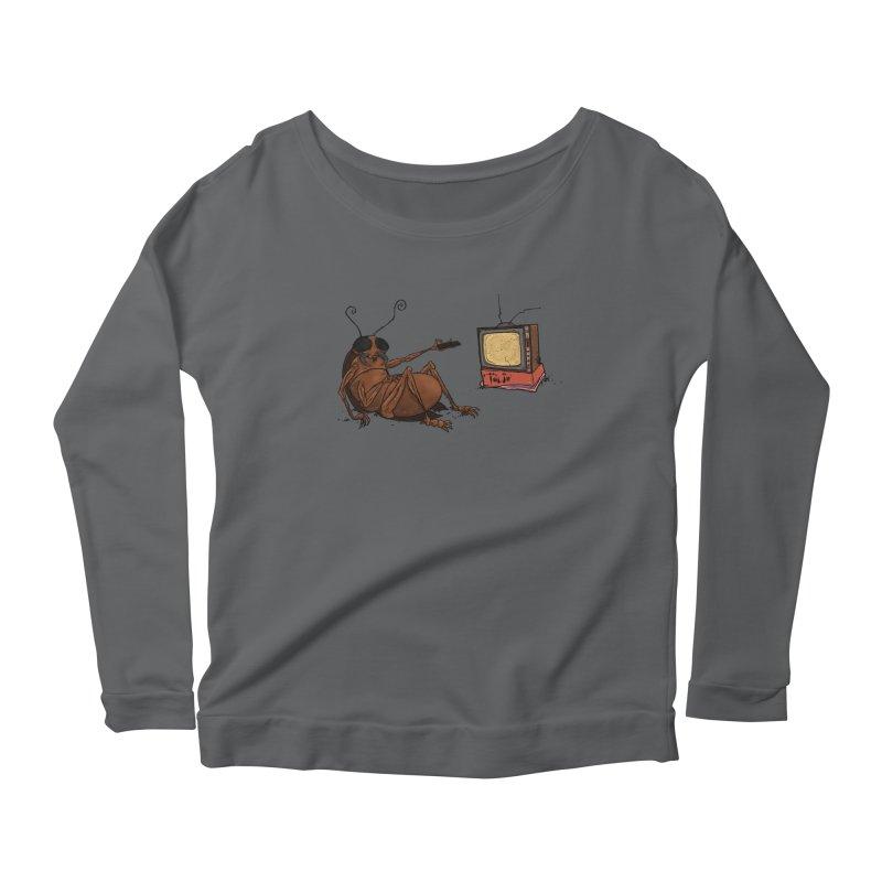 Roach Motel Women's Scoop Neck Longsleeve T-Shirt by Tail Jar's Artist Shop