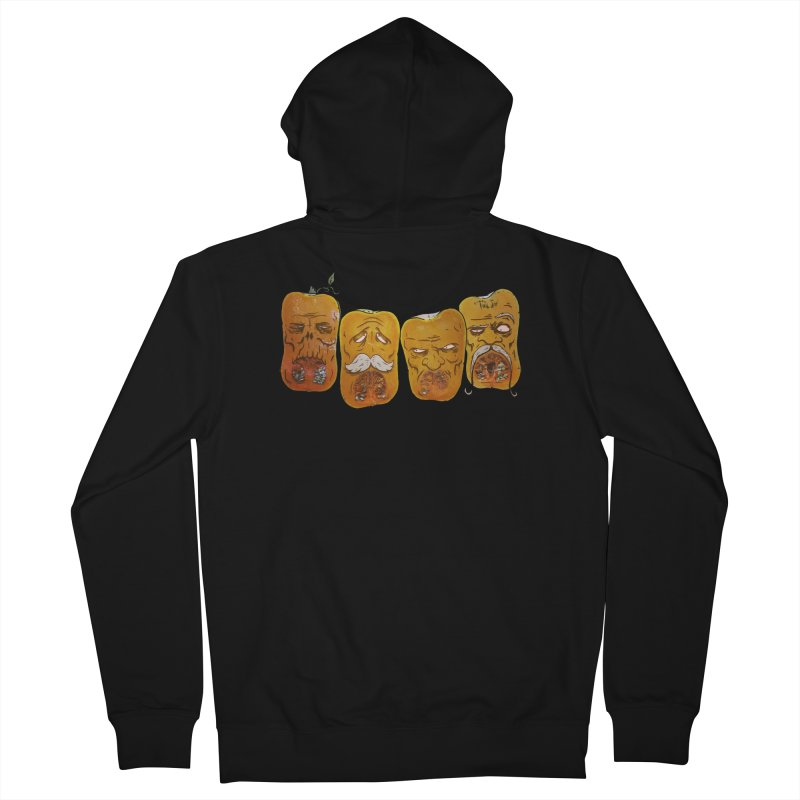 Country Pumpkins Men's French Terry Zip-Up Hoody by Tail Jar's Artist Shop