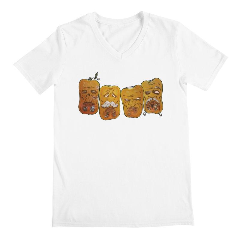 Country Pumpkins Men's Regular V-Neck by Tail Jar's Artist Shop