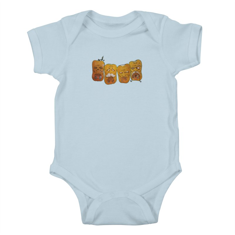Country Pumpkins Kids Baby Bodysuit by Tail Jar's Artist Shop