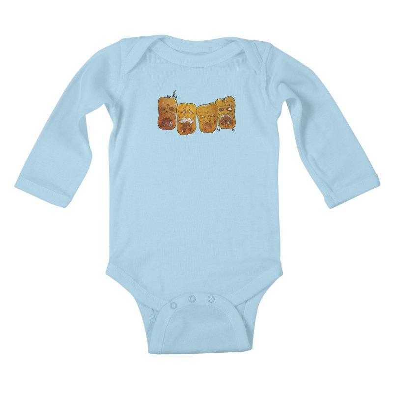 Country Pumpkins Kids Baby Longsleeve Bodysuit by Tail Jar's Artist Shop