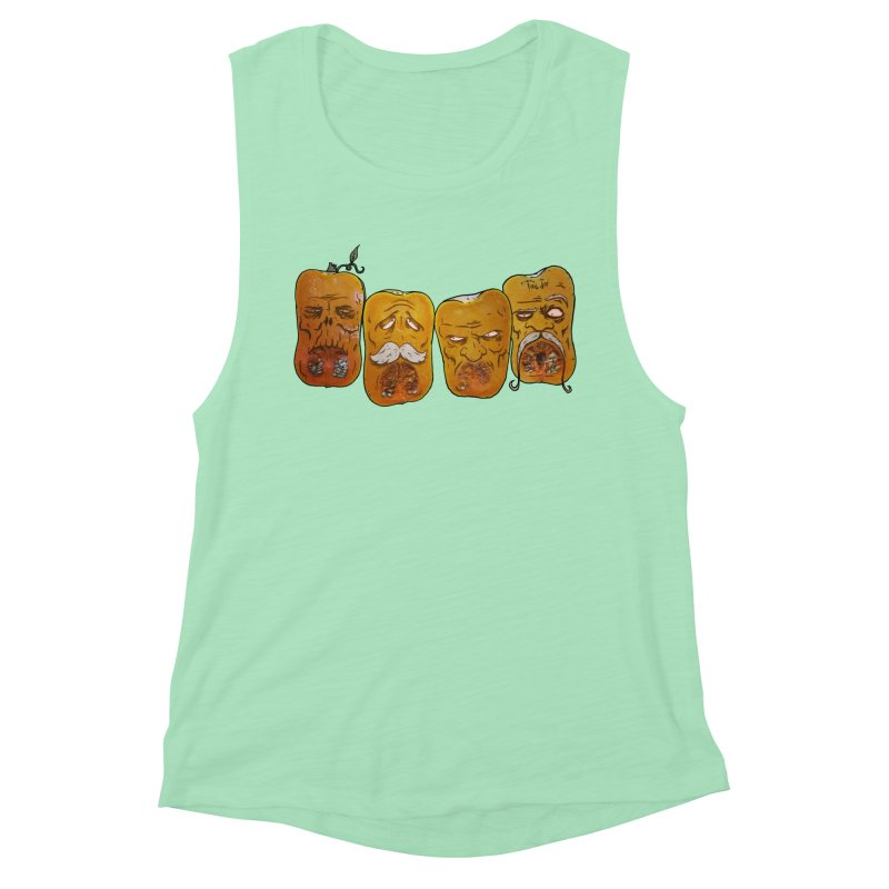 Country Pumpkins Women's Muscle Tank by Tail Jar's Artist Shop