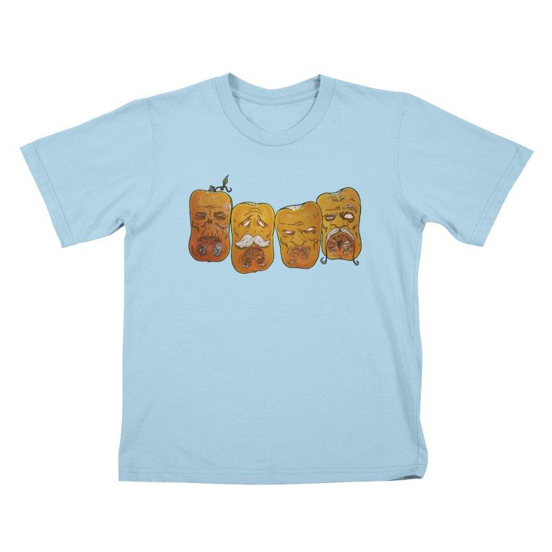 Country Pumpkins Kids T-Shirt by Tail Jar's Artist Shop