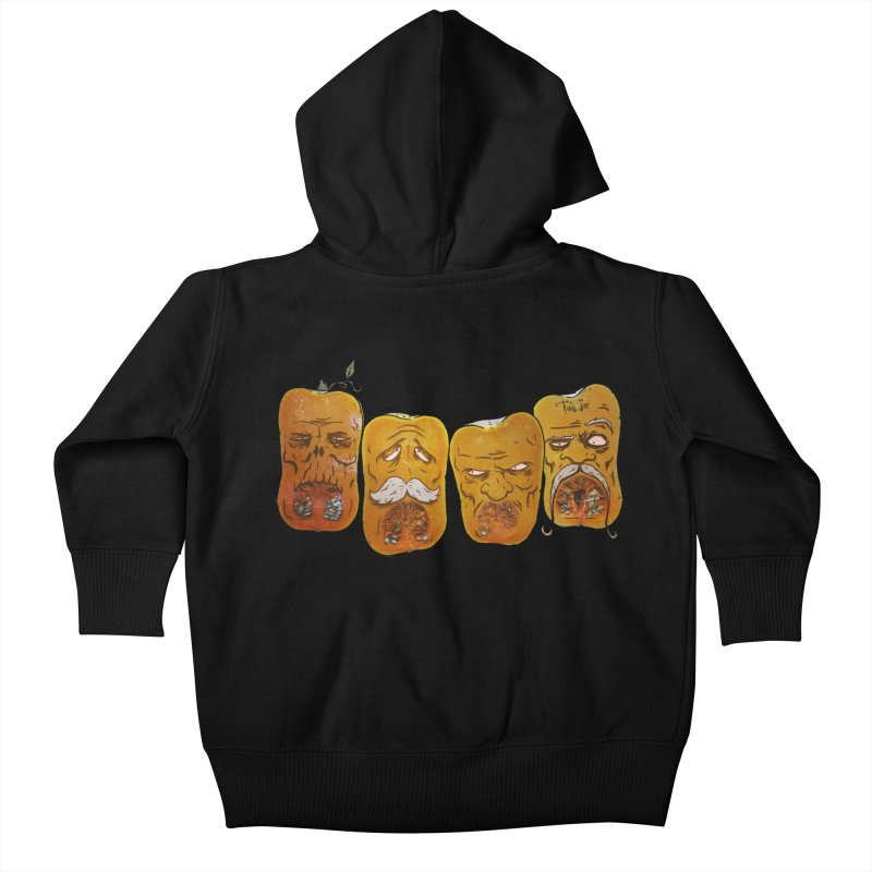 Country Pumpkins Kids Baby Zip-Up Hoody by Tail Jar's Artist Shop