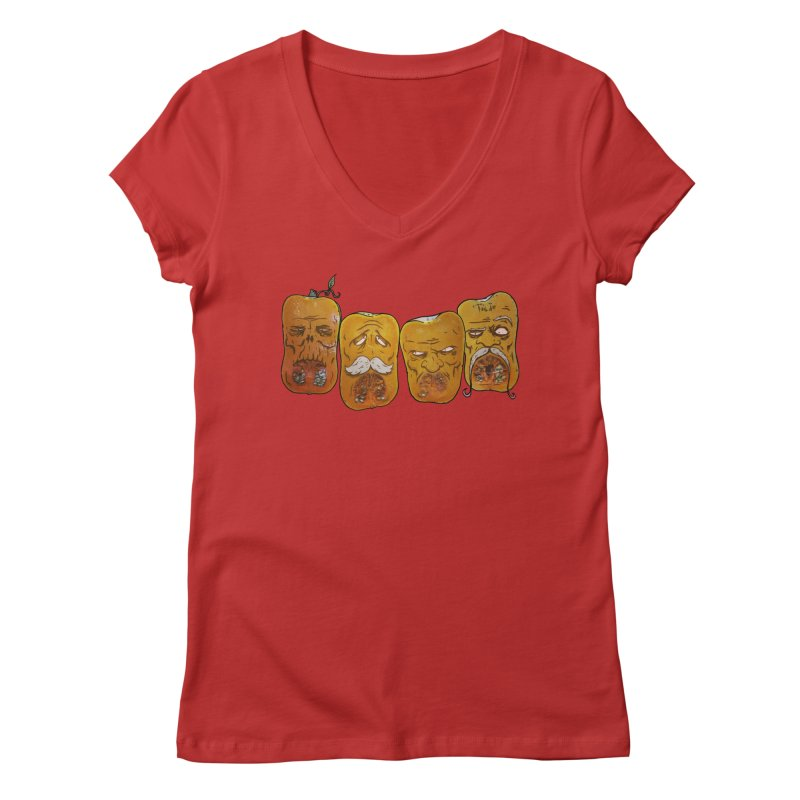 Country Pumpkins Women's Regular V-Neck by Tail Jar's Artist Shop
