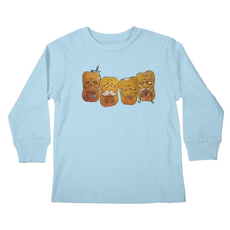 Country Pumpkins Kids Longsleeve T-Shirt by Tail Jar's Artist Shop