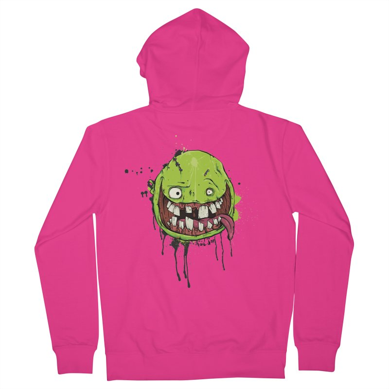 Happy Men's French Terry Zip-Up Hoody by Tail Jar's Artist Shop