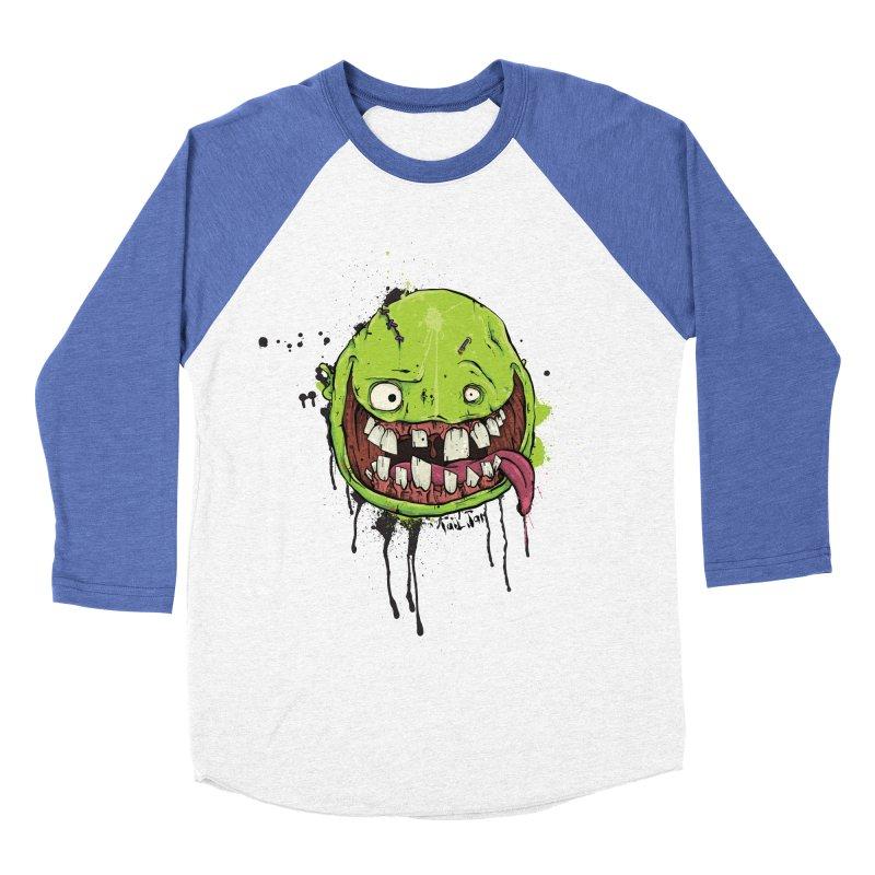 Happy Women's Baseball Triblend Longsleeve T-Shirt by Tail Jar's Artist Shop