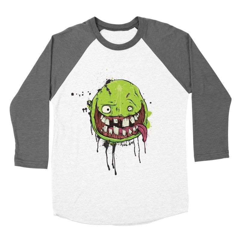 Happy Men's Baseball Triblend Longsleeve T-Shirt by Tail Jar's Artist Shop