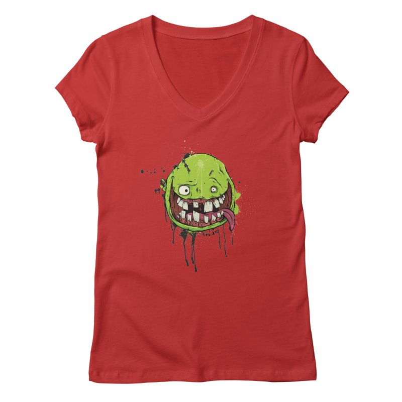 Happy Women's Regular V-Neck by Tail Jar's Artist Shop