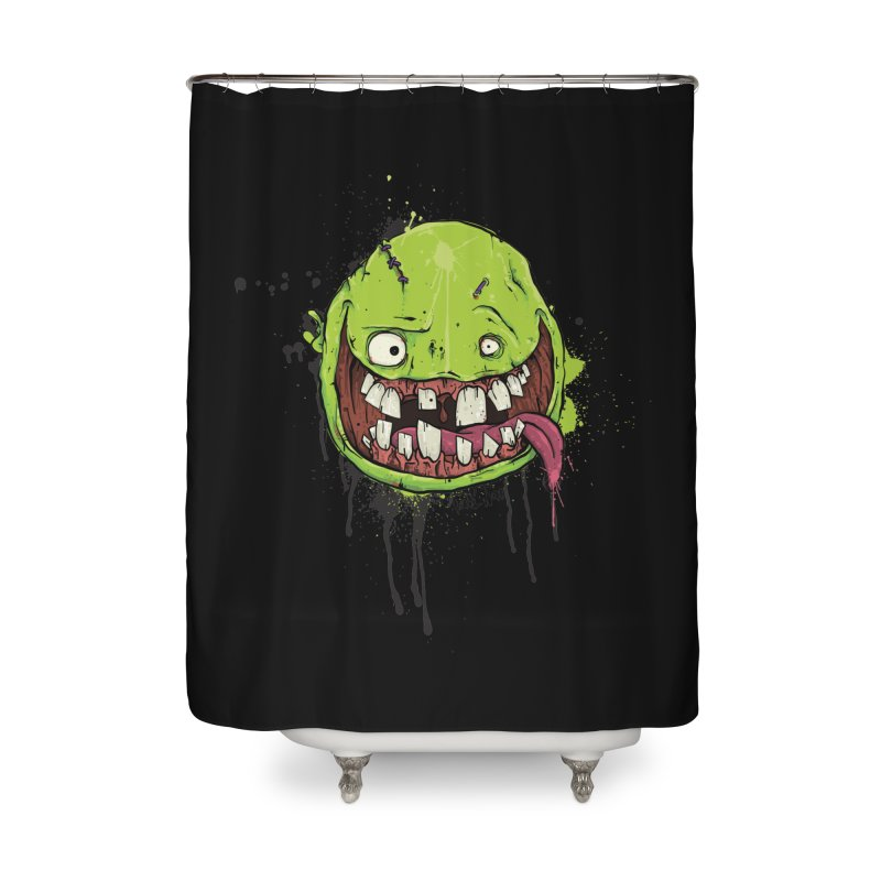 Happy Home Shower Curtain by Tail Jar's Artist Shop