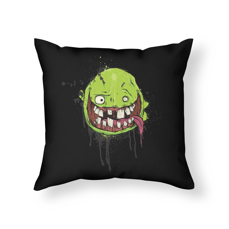 Happy in Throw Pillow by Tail Jar's Artist Shop