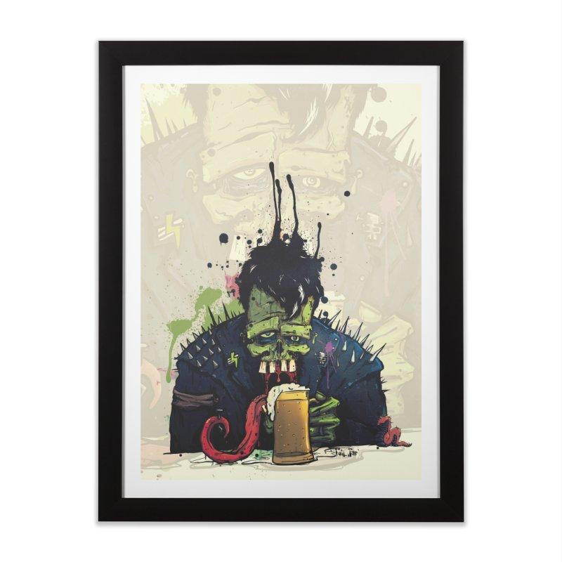 Happy Hour in Framed Fine Art Print Black by Tail Jar's Artist Shop