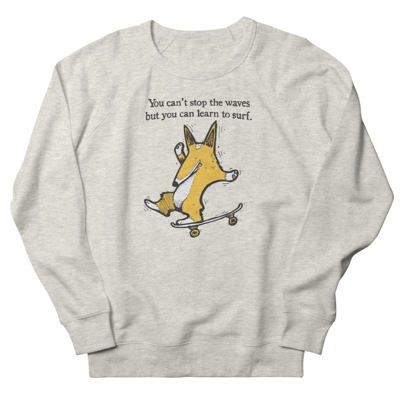 Skate-Corg Men's French Terry Sweatshirt by Taj Mihelich