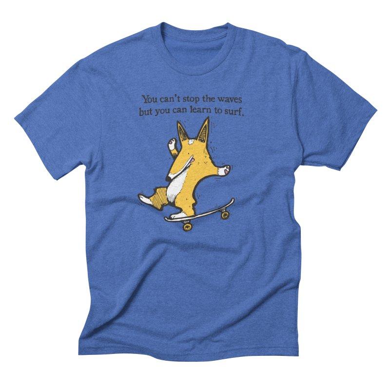Skate-Corg Men's Triblend T-Shirt by Taj Mihelich