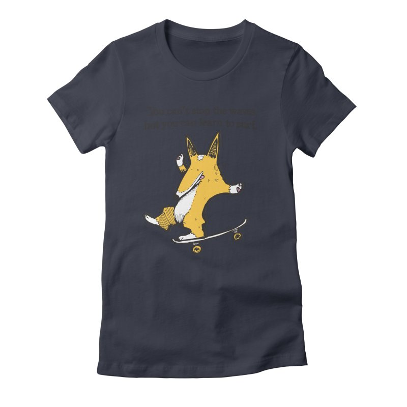 Skate-Corg Women's T-Shirt by Taj Mihelich
