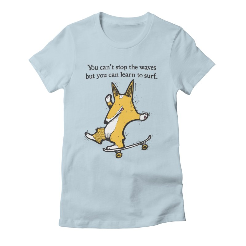Skate-Corg Women's Fitted T-Shirt by Taj Mihelich