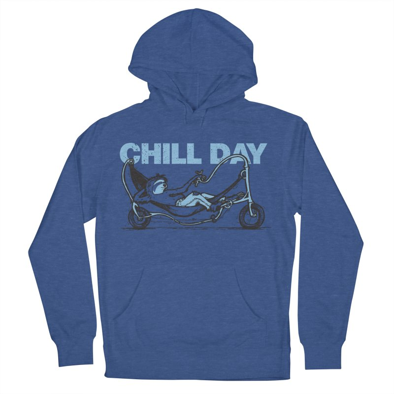 Chill Day in Men's French Terry Pullover Hoody Heather Royal by Taj Mihelich