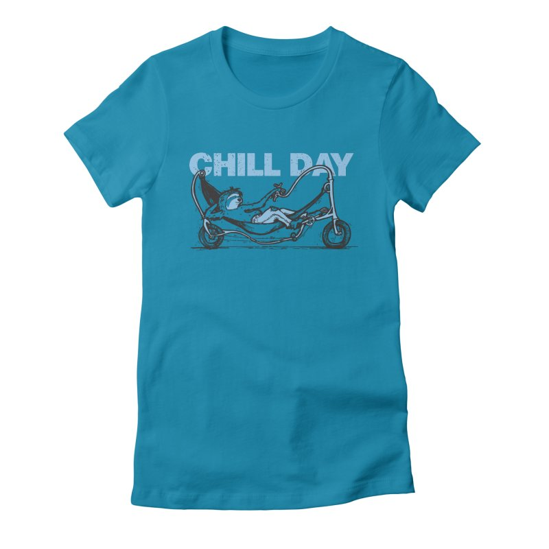 Chill Day Women's Fitted T-Shirt by Taj Mihelich