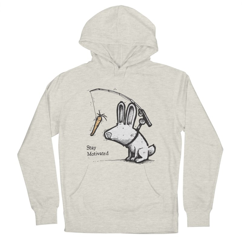 Stay Motivated Men's French Terry Pullover Hoody by Taj Mihelich