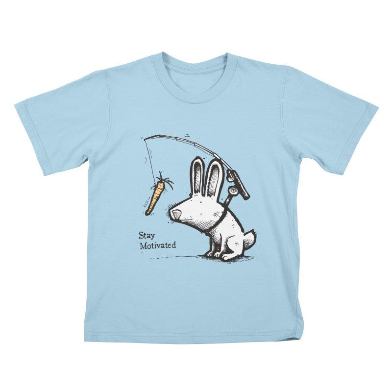 Stay Motivated Kids T-Shirt by Taj Mihelich