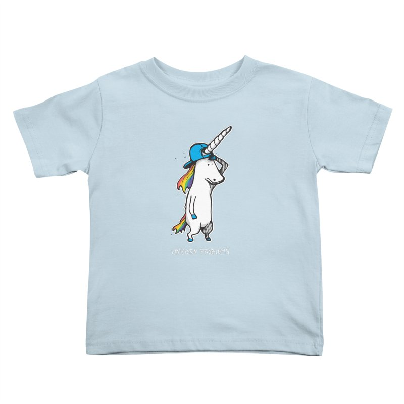Unicorn Problems Kids Toddler T-Shirt by Taj Mihelich