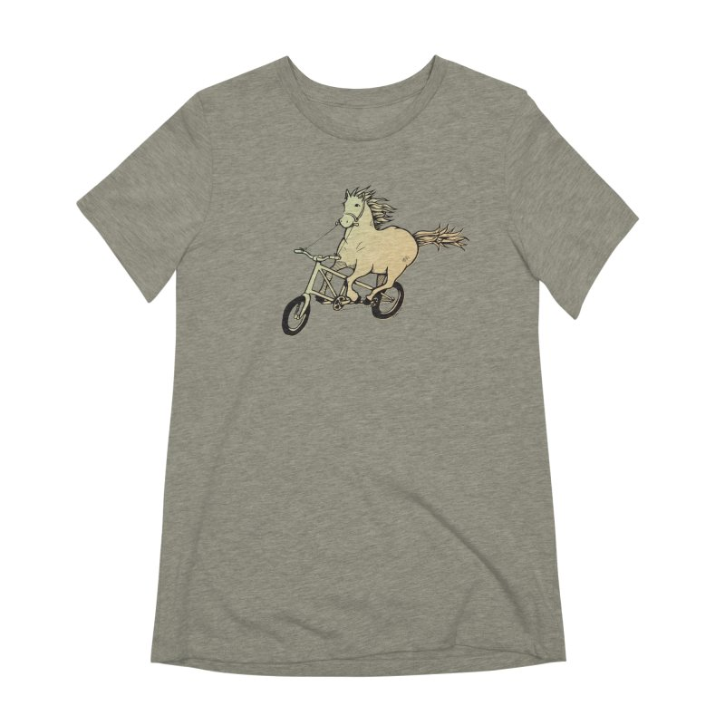 Clopless Pedals Women's Extra Soft T-Shirt by Taj Mihelich