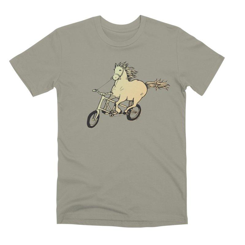 Clopless Pedals Men's Premium T-Shirt by Taj Mihelich