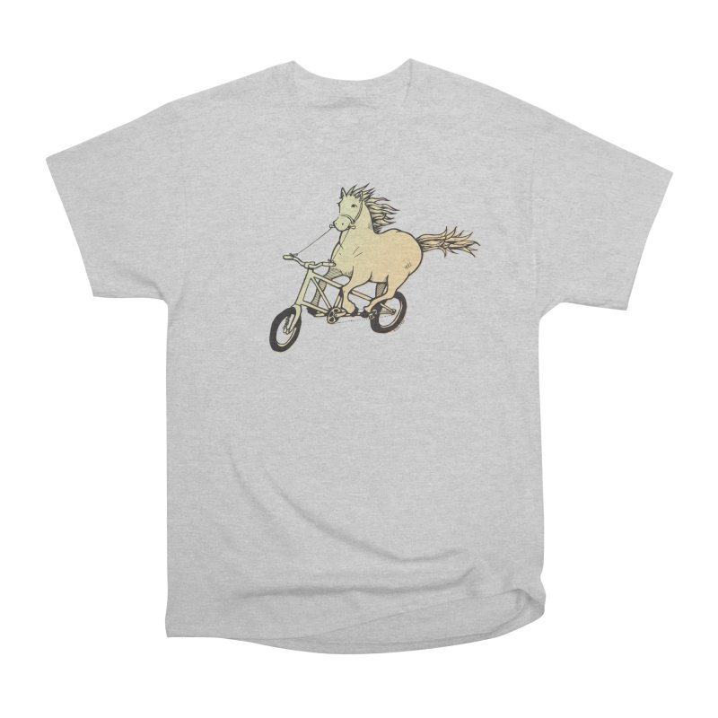 Clopless Pedals Women's Heavyweight Unisex T-Shirt by Taj Mihelich