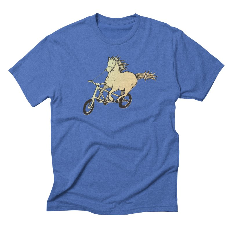 Clopless Pedals Men's Triblend T-Shirt by Taj Mihelich