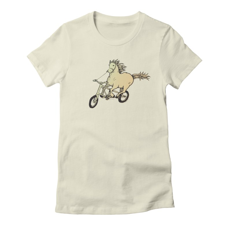 Clopless Pedals Women's Fitted T-Shirt by Taj Mihelich