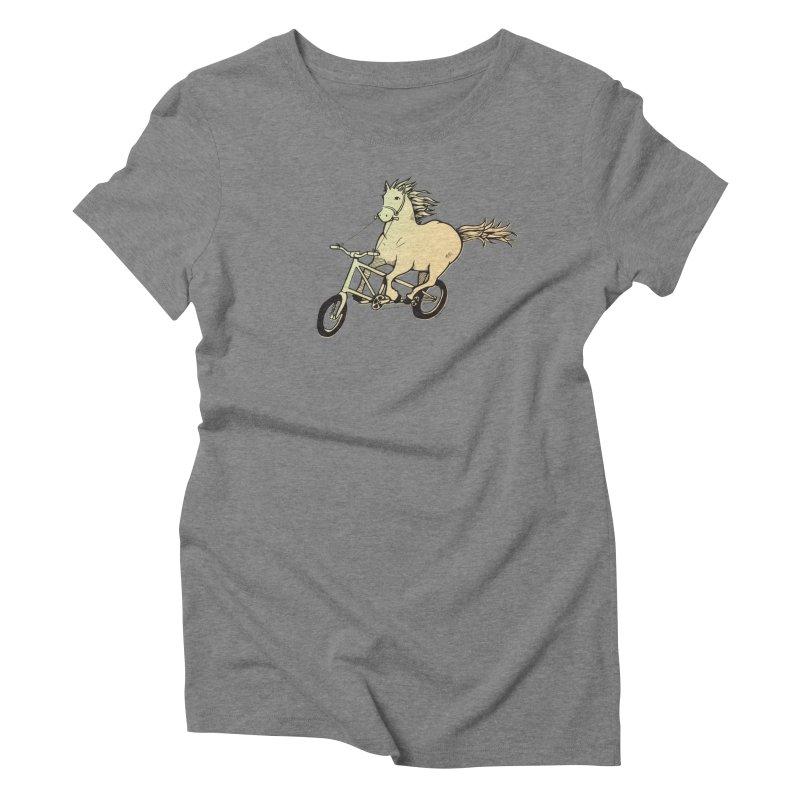 Clopless Pedals Women's Triblend T-Shirt by Taj Mihelich