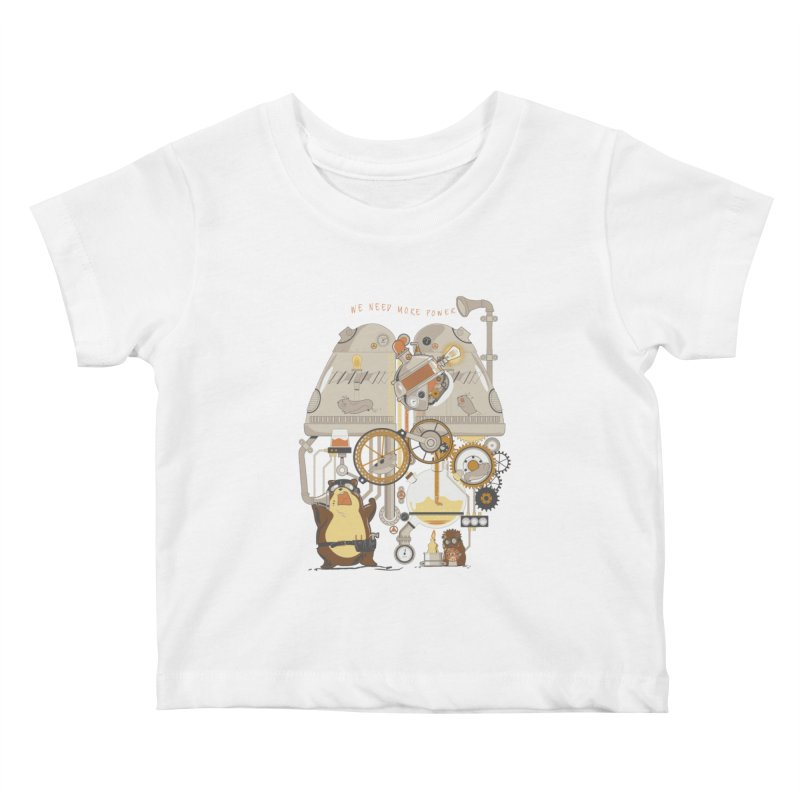 We Need More Power! Kids Baby T-Shirt by The Takoyaki Project