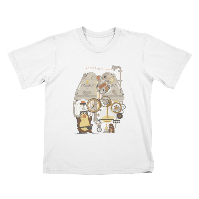 We Need More Power! Kids T-shirt by The Takoyaki Project