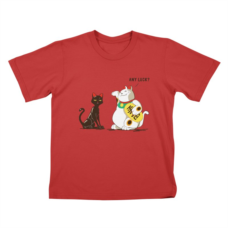 Luck Cats Kids T-Shirt by The Takoyaki Project