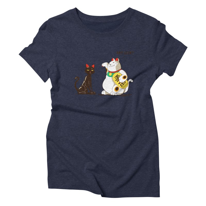 Luck Cats Women's Triblend T-Shirt by The Takoyaki Project