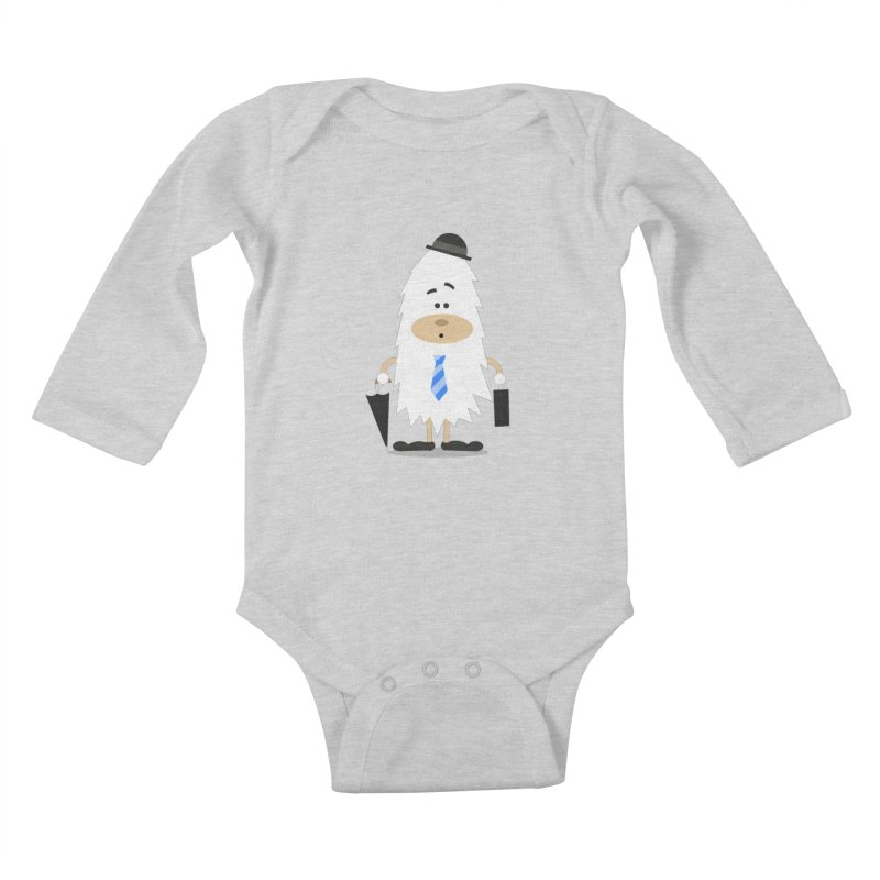 Office Yeti Kids Baby Longsleeve Bodysuit by Threadless Tshirts Cartoons